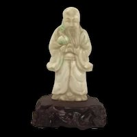 Chinese Qing Dynasty Jadeite Jade Wise Old Man