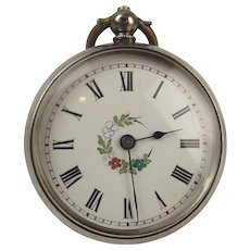 742780ad0 Late 19th Century Ladies Silver Swiss Pocket Watch