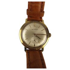 Gents Wittnauer-Longines Gold Plated Wristwatch – Boxed c1960's