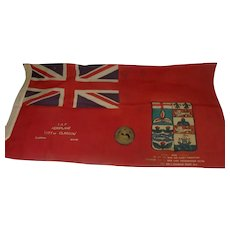 1918 Brass Plaque And Flag Of The Canadian Imperial Air Fleet