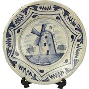 Mid 17th Century Blue & White Delft Pottery Bowl