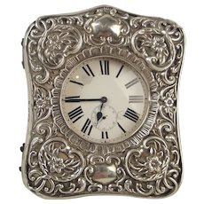 Goliath Pocket Watch With Silver Fronted Travel Case