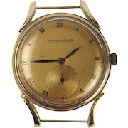 Gents 1940's Gold Plated Jaeger Le Coultre Oversize Wristwatch