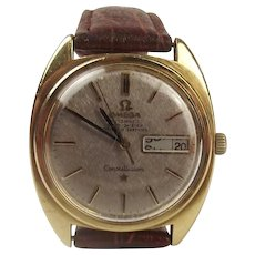 Gents Gold Plated Omega Constellation Wrist Watch