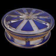 A French Glass Dressing Table Box, Late 19th Century