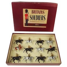 Boxed Britains Soldiers ROAN Set 9406 Band Of The Life Guards c1950's