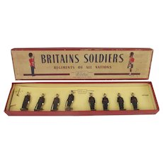 Boxed Britains Soldiers ROAN Set 2090 Royal Irish Fusiliers, At Attention, No.1 Dress c1950's