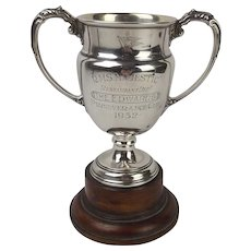 White Star Line RMS Majestic Silver Presentation Cup c1932