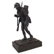 Robert Truscott Bronze Figure Of A WW2 Russian Infantryman Ltd Ed. 8/15