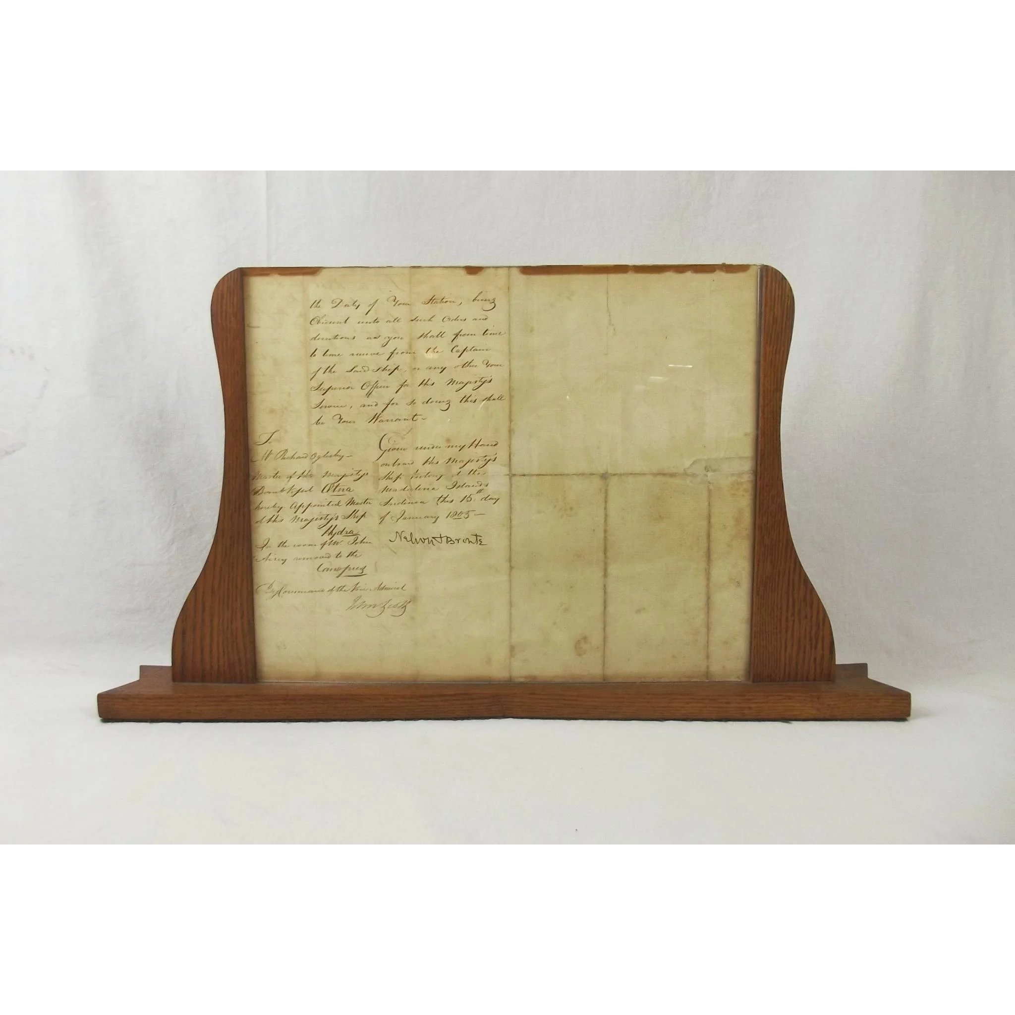 Framed Letter By Lord Nelson Signed And Dated 1805 : The Antiques ...