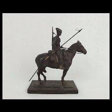 Robert Truscott Bronze Figure - WW1 Horse Mounted Cossack Ltd Ed. 5/15