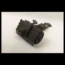 Hausser German Post War Tin Plate Toy 75 mm GebK 15 Mountain Gun