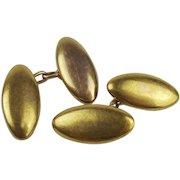 Pair Of 15ct Yellow Gold Cufflinks