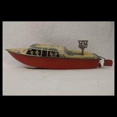 1960's Arnold Tinplate Windup Speedboat Toy