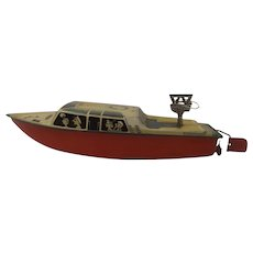 1960's Arnold Tinplate Windup Speedboat Toy