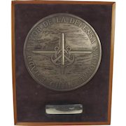 National Defence Staff Presentation Plaque Given To Admiral Sir Peter Hill-Norton c1970