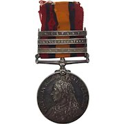 3 Clasp Boer War Queens South Africa Medal Pte. T. Ryder 5th Lancers