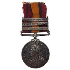 3 Clasp Boer War Queens South Africa Medal Pte. T. Ryder 5th Lancers