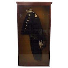 Cased Royal Navy Edwardian Captain/Lieutenant Half Uniform