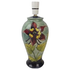 Moorcroft Columbine Pattern Lamp Base