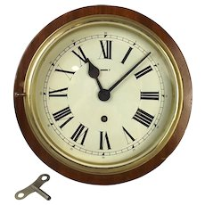 Mounted 8 Day Ships Bulkhead Clock