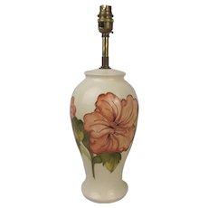 Moorcroft Hibiscus Pattern Large Ceramic Lamp Base #1