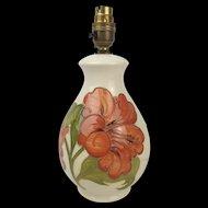 Moorcroft Hibiscus Pattern Ceramic Lamp Base
