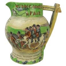 Crown Devon Fieldings Widdicombe Fair Musical Jug