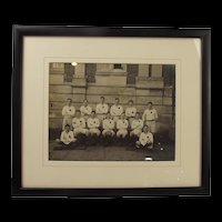 Framed Photograph Of The Dartmouth Royal Navy College Colts Soccer XI Team 1930