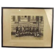 Framed Photograph Of The Dartmouth Royal Navy College Rugby 2nd XV Team 1930