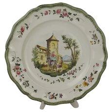 18th Century Veuve Perrin Plate #3
