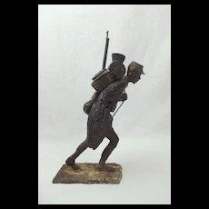Robert Truscott Bronze Figure Of A WW1 French Trooper Ltd Ed. 2 of 8