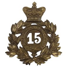 Victorian 15th Regiment Of Foot Shako Plate
