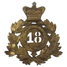 Victorian 18th Regiment Of Foot Shako Plate
