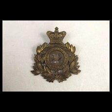 Victorian 22nd Regiment Of Foot Shako Plate
