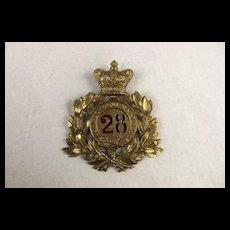 Victorian 28th Regiment Of Foot Shako Plate