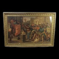 Victorian Framed Chromolithographic Print Of Raphaels 'The Sacrifice at Lystra' By Zorn & Co.