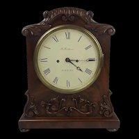 c1840 Mahogany Striking Double Fusee Bracket Clock By M. Ketterer Of Portsea