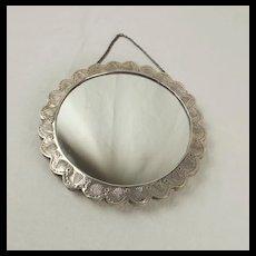 Turkish Bedo Silver Hanging Mirror