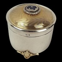 Sterling Silver Silent Night Music Box By The St James Company c1981