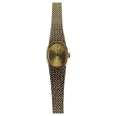 Ladies Gold Plated Omega De Ville Wristwatch With Silver Gilt Bracelet