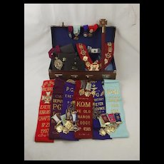 Royal Antediluvian Order Of Buffaloes Collection c1970's -2000 - Plus 1930 Silver Medallion