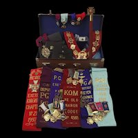 Royal Antediluvian Order Of Buffaloes Collection c1970's-2000 - Plus 1930 Silver Medallion