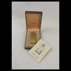 Boxed Dunhill 70 Gold-Plated Rollagas Lighter c1950's