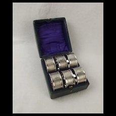 Cased Set Of Six Silver Plate Napkin Rings