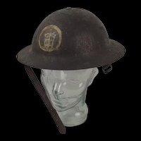 First World War 58th Division London Territorials Brodie Helmet c1916