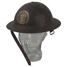 First World War 58th Division London Territorials Brodie Helmet c1916