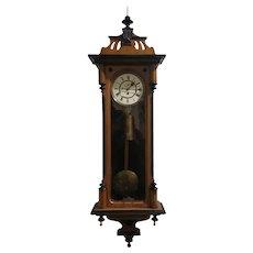 Eight Day Vienna Regulator Wall Clock c1880