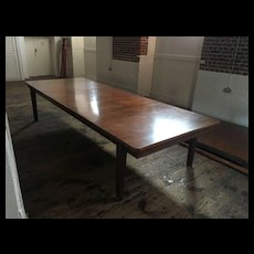 Mahogany Dining Table From The Royal Marines Museum No.1 Churchill Eisenhower