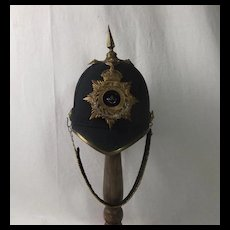 Edwardian Durham Light Infantry Officers Blue Cloth Helmet